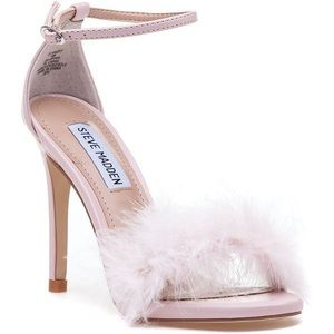 Steve madden feather floof heels